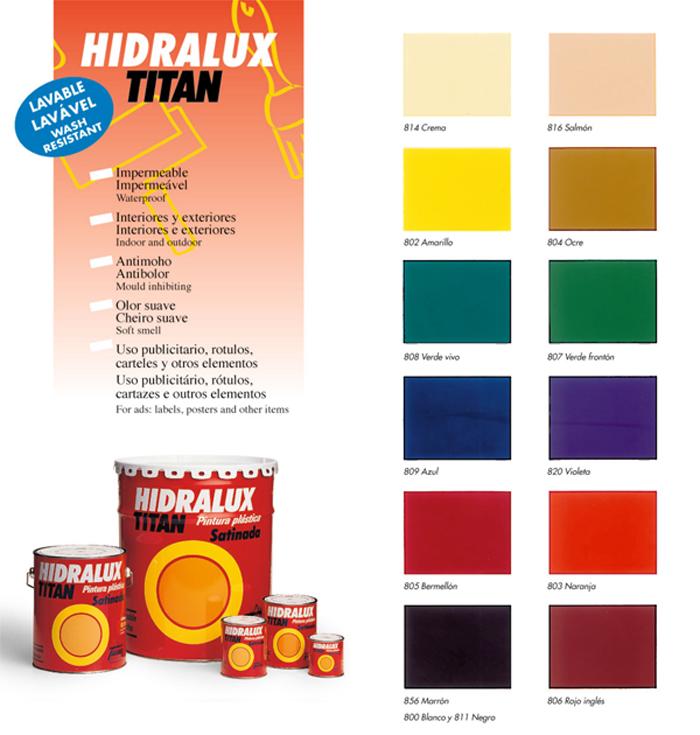 hidralux colores, titan colores, pintura satinada colores, pintura satinada titan, pintura satinada