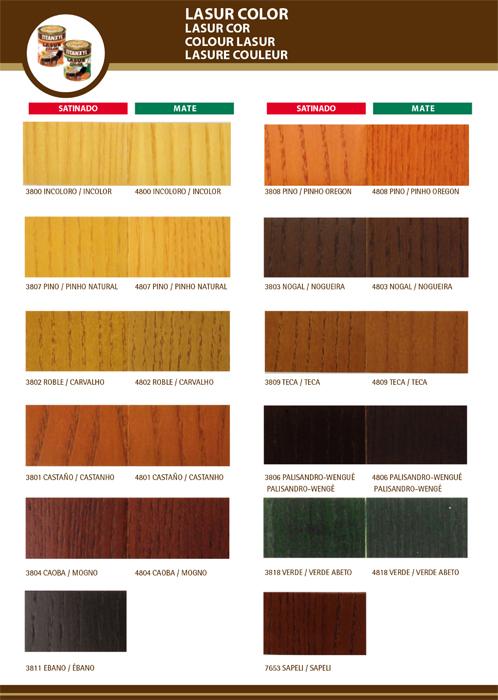 protector madera colores, colores lasur titan, lasur colores, barniz poro abierto, colores madera