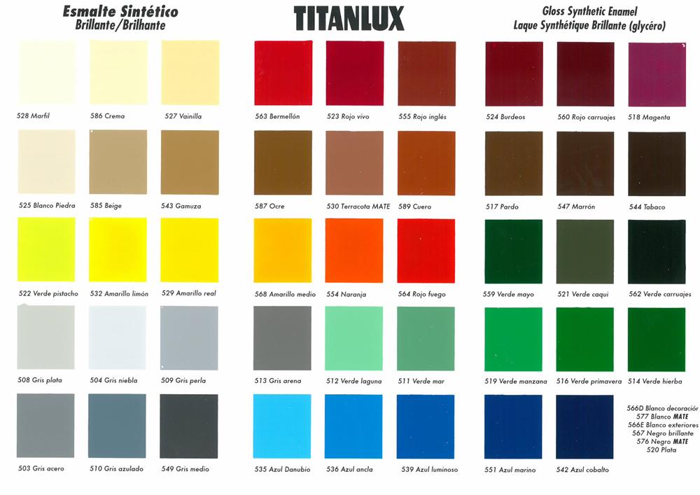 Titanlux blanco y colores tienda de pinturas online - Colores en pintura ...