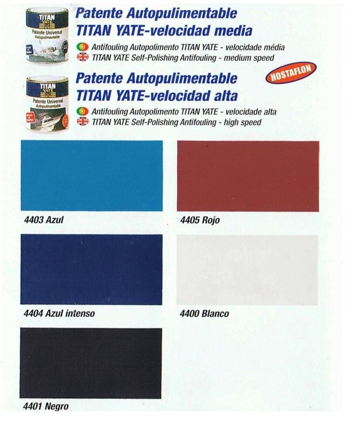 Patente Autopulim, colores