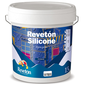 Pintura acrílica siliconada, apta para fachadas.