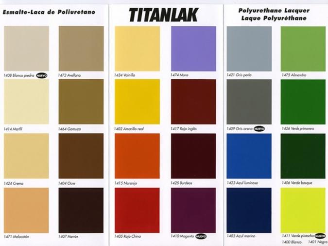 Titanlak tienda de pinturas online for Pinturas titan catalogo