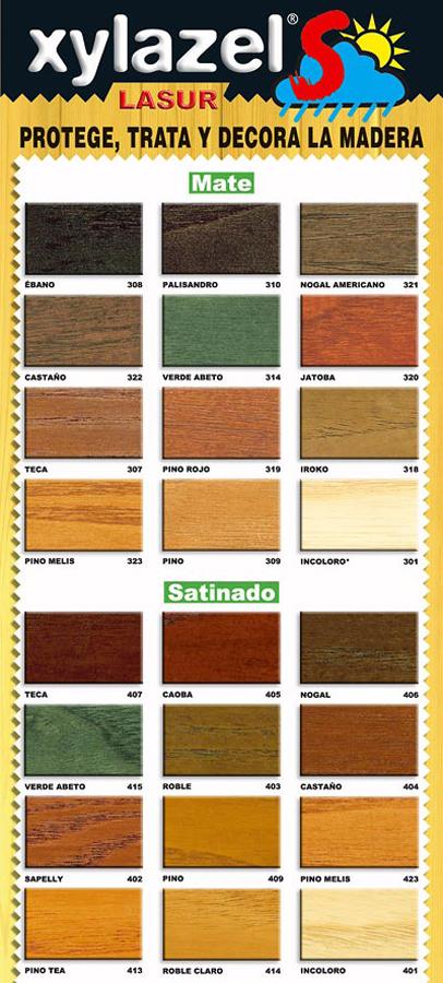 colores protector madera, madera xylazel , madera xylazel colores