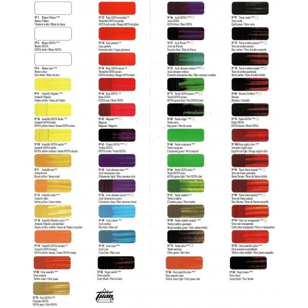 Oleo goya tienda de pinturas online for Pinturas titan catalogo