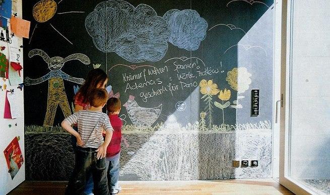 Ideas para utilizar la pintura para pizarra titanlux - Pintar pared pizarra ...