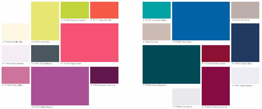 Titan velvet esmalte paredes tienda de pinturas online - Gama de colores para pintar ...