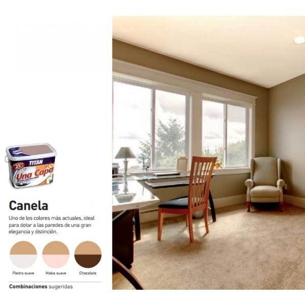 Titan una capa tienda de pinturas online for Pintura color canela
