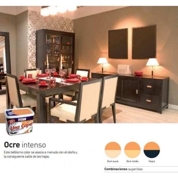 Titan una capa tienda de pinturas online for Pintura color ocre claro