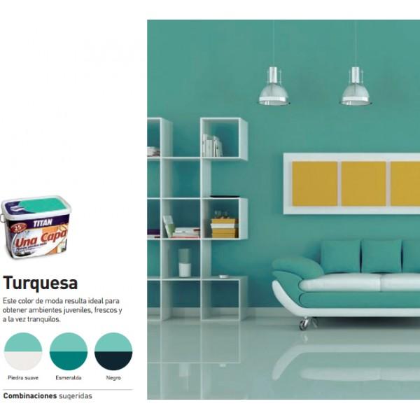 Titan una capa tienda de pinturas online for Pintura color azul piedra